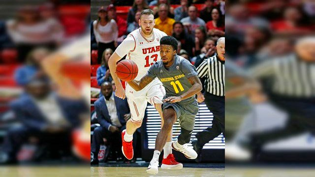 Shannon Evans scored 22 points, and Arizona State held on for a choppy 80-77 victory over Utah on Sunday night to end a two-game losing streak. (Source: AP Photo)