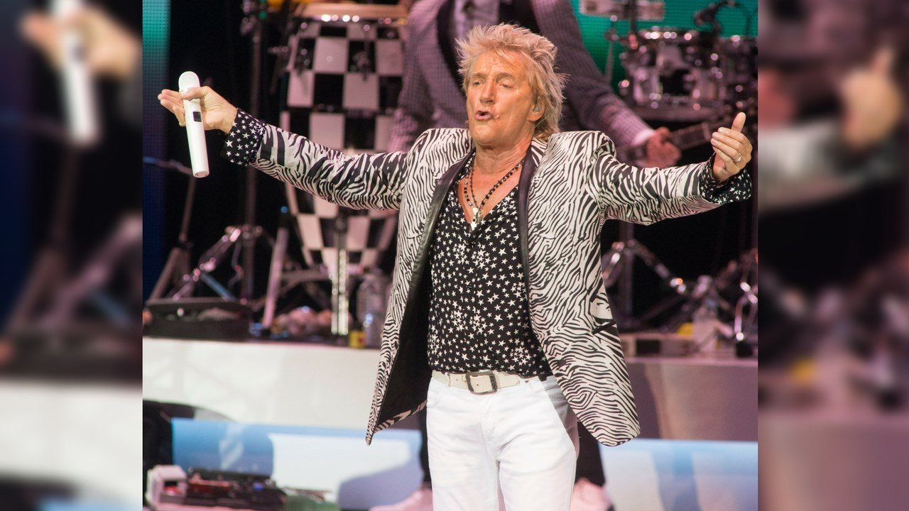 Rod Stewart performs in concert at the BB&T Pavilion on Wednesday, July 12, 2017, in Camden, N.J. (Photo by Owen Sweeney/Invision/AP)