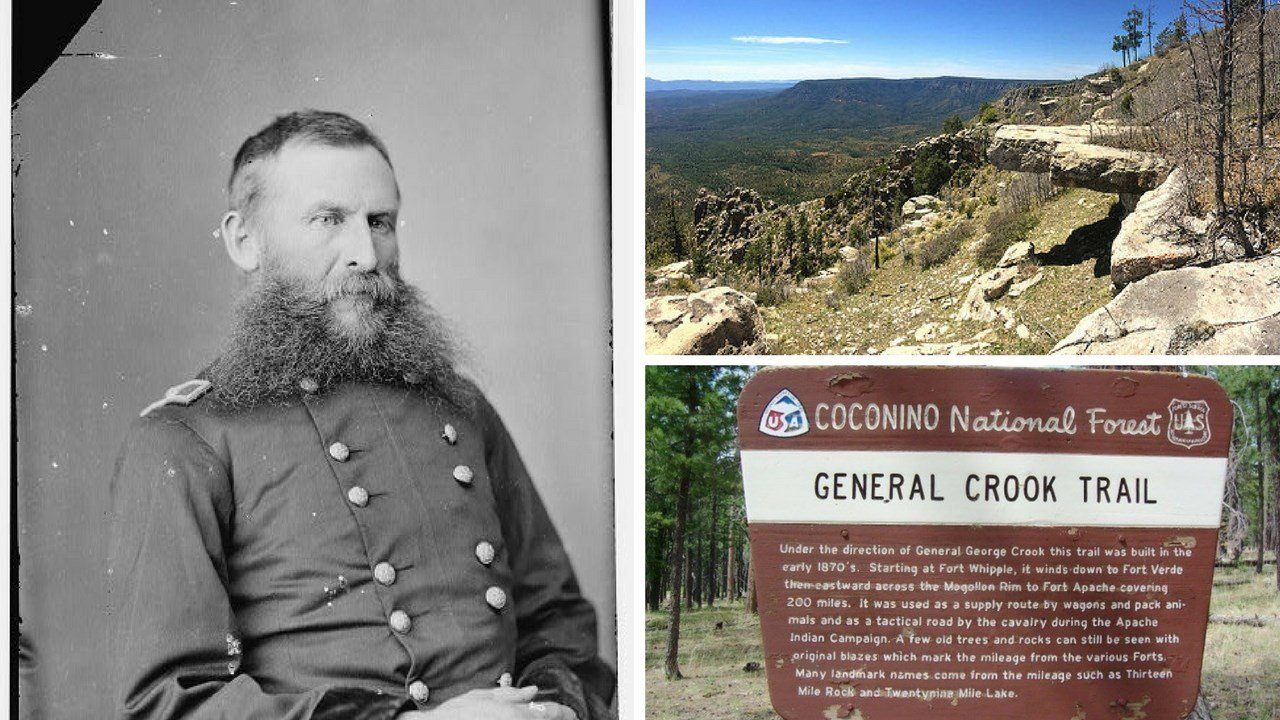 Gen. General Crook, Mogollon Rim. 8 Jan 2018 (Source: Crook-National Archives; Coconino Nat. Forest)
