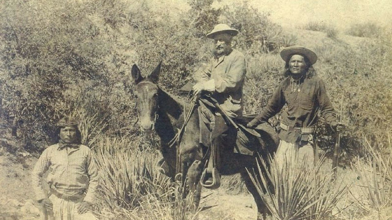 General George Crook and two of his Apache scouts. 8 Jan. 2018 (Source: Vanished Arizona)