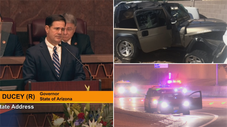 "The governor called for the creation of a ""Wrong-Way Driver Night Watch"" within the Department of Public Safety. (Source: 3TV/CBS 5)"