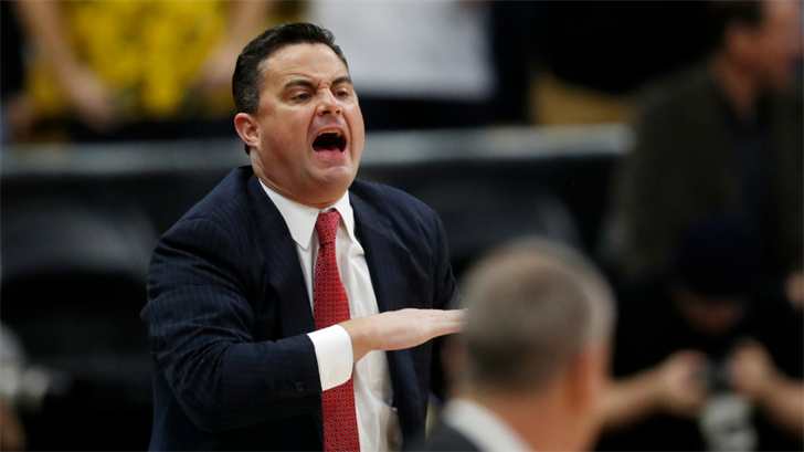 Arizona head coach Sean Miller directs his team against Colorado in the first half of an NCAA college basketball game, Saturday, Jan. 6, 2018, in Boulder, Colo. (Source: AP Photo/David Zalubowski)