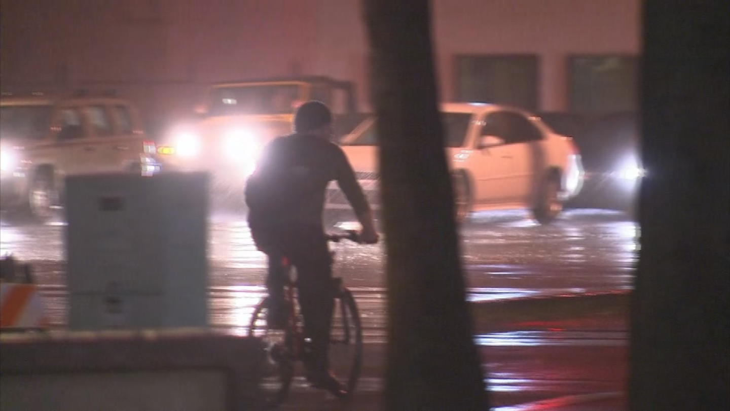 Drivers saw the rain in central Phoenix. (Source: 3TV/CBS 5)