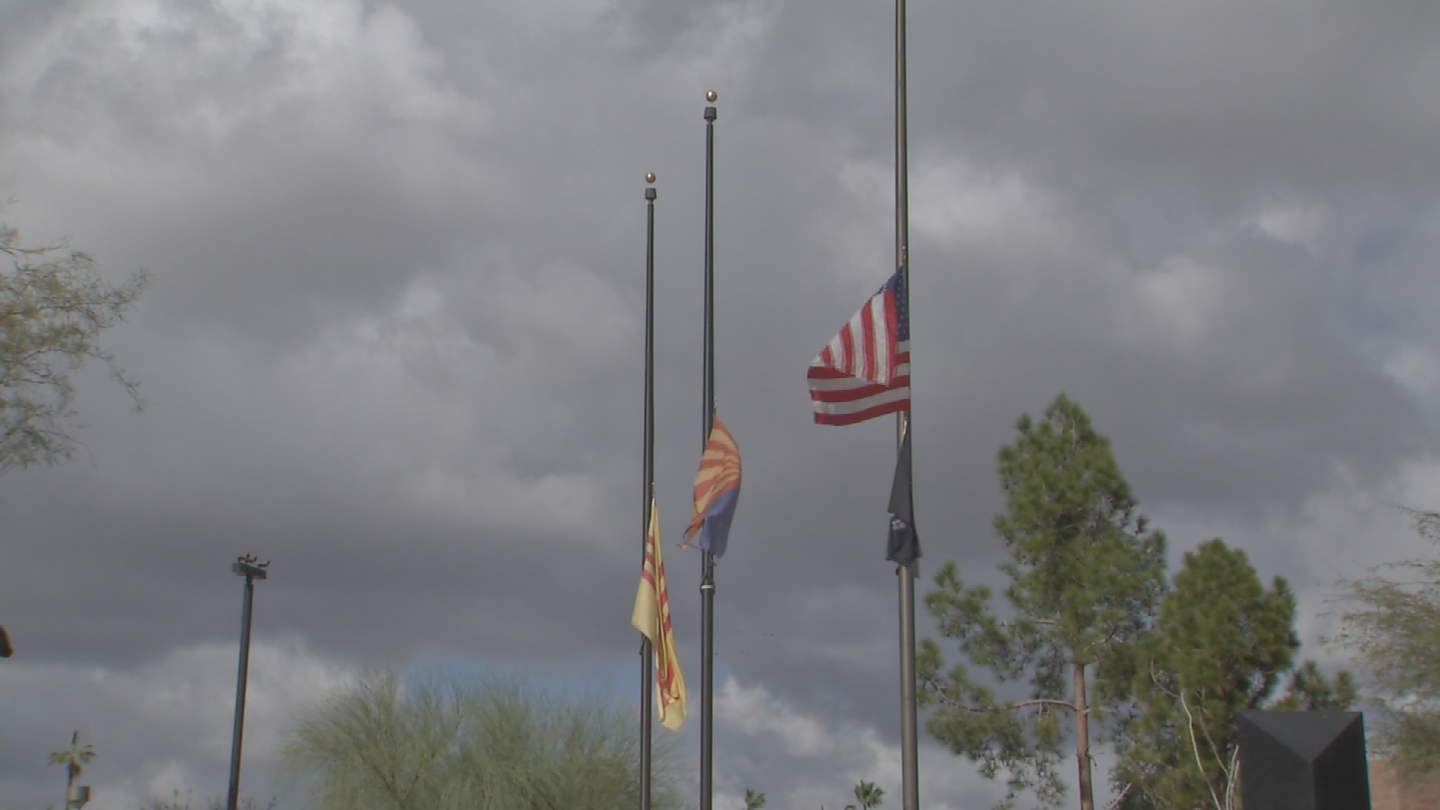 Flags were flown at half-staff yesterday for a fallen Vail, Arizona service member who died while on assignment in Kosovo. (Source: 3TV/CBS 5)