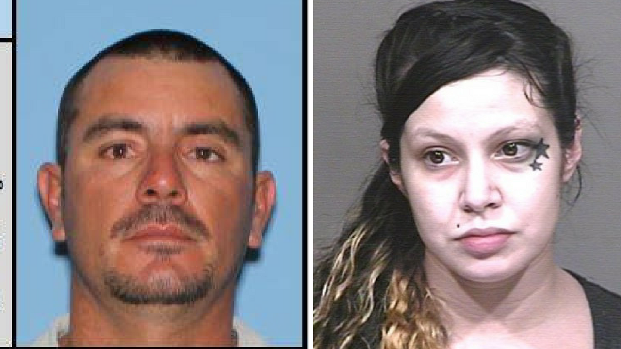 Jose Pedro Moreno Leyva, 39 (left) Noelle Bates, 30 first two wanted felony suspects in the new Catch 22 program. (Source: Phoenix Police Department/Silent Witness)