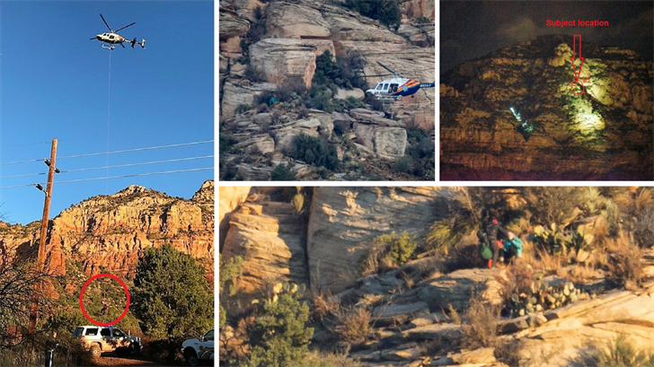 Yavapai County Sheriff's officials say a teenager has been rescued from Sedona Butte after becoming stranded overnight. (Source: Yavapai County Sheriff's Office/Larry Lindahl Photography)