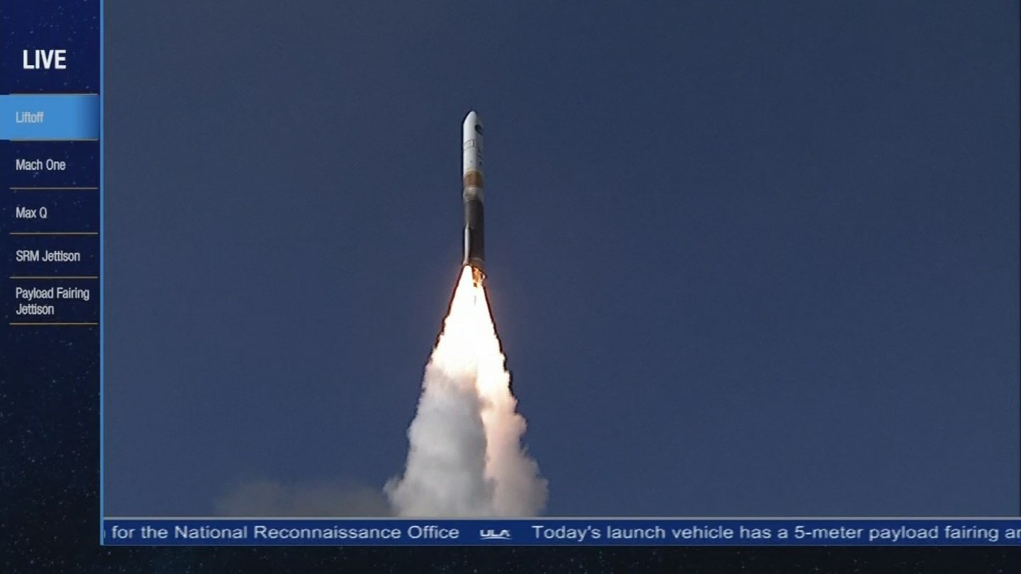 Rocket launch Friday afternoon from Vandenberg AFB, California. 12 Jan. 2018 (Source: 3TV/CBS 5 News)