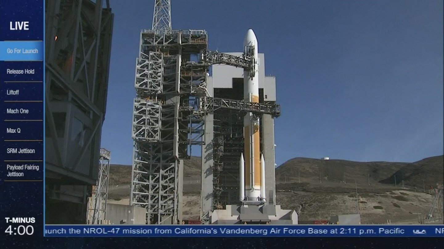 The countdown to launch Friday, Vandenberg AFB. 12 Jan. 2018 (Source: 3TV/CBS 5 News)