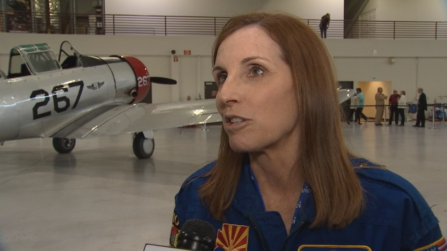 Fighter Pilot Makes Impressive Entrance to Announce She's Running for Senate
