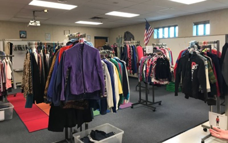 The Family Resource Center in Phoenix accepts donations of shoes, clothes and toiletries that are offered to students enrolling in Alhambra Elementary School District. (Source: Juliana Evans/Cronkite News)