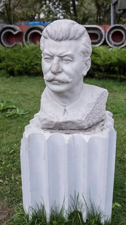 "A photo of a sculpture of Joseph Stalin called ""Stalin's Portrai"" in Moscow, Russia. (Source: aleks49 / 123RF Stock Photo)"