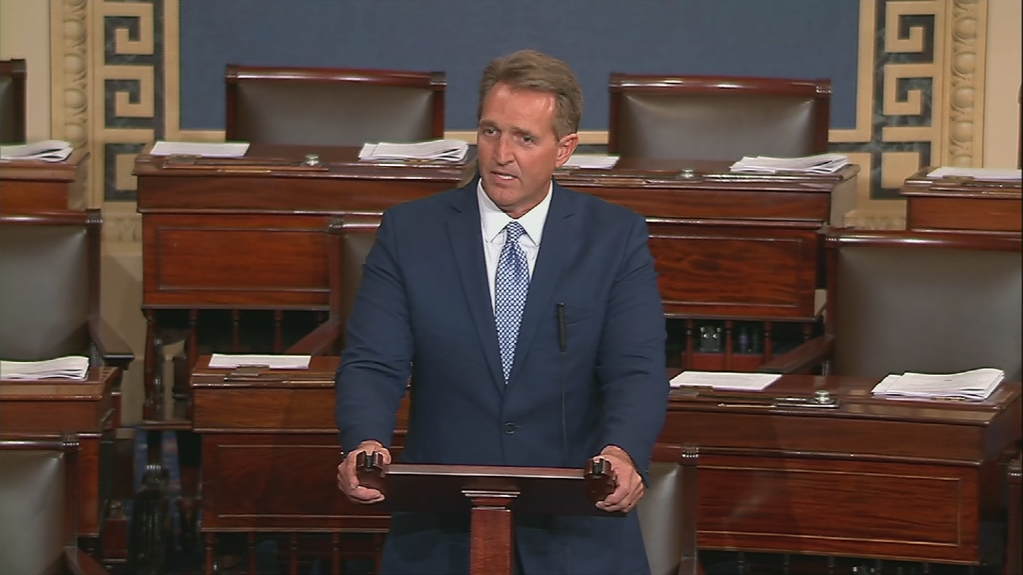 "Flake will criticize the President for calling the news media the ""enemy of the people,"" calling it ""an assault as unprecedented as it is unwarranted."" (Source: CNN)"