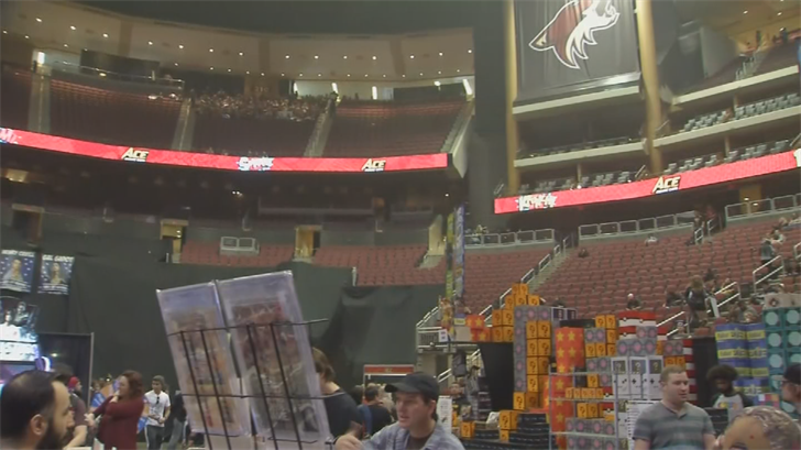 The comic books were stolen while he was on the floor of Gila River Arena. (Source: 3TV/CBS 5)