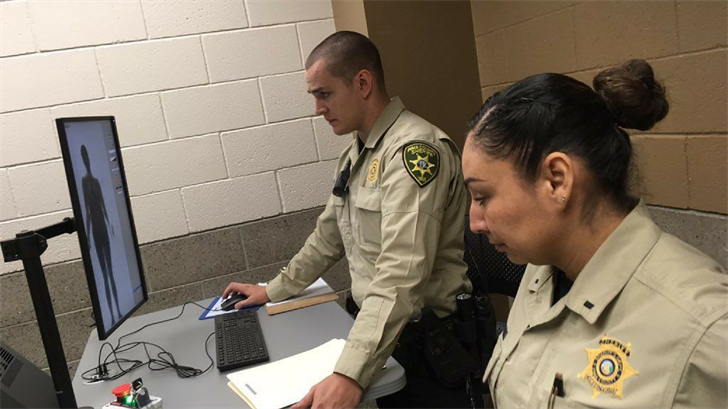 The Pima County Jail is using full-body scanning devices to screen incoming inmates for contraband. (Source: Tucson News Now)