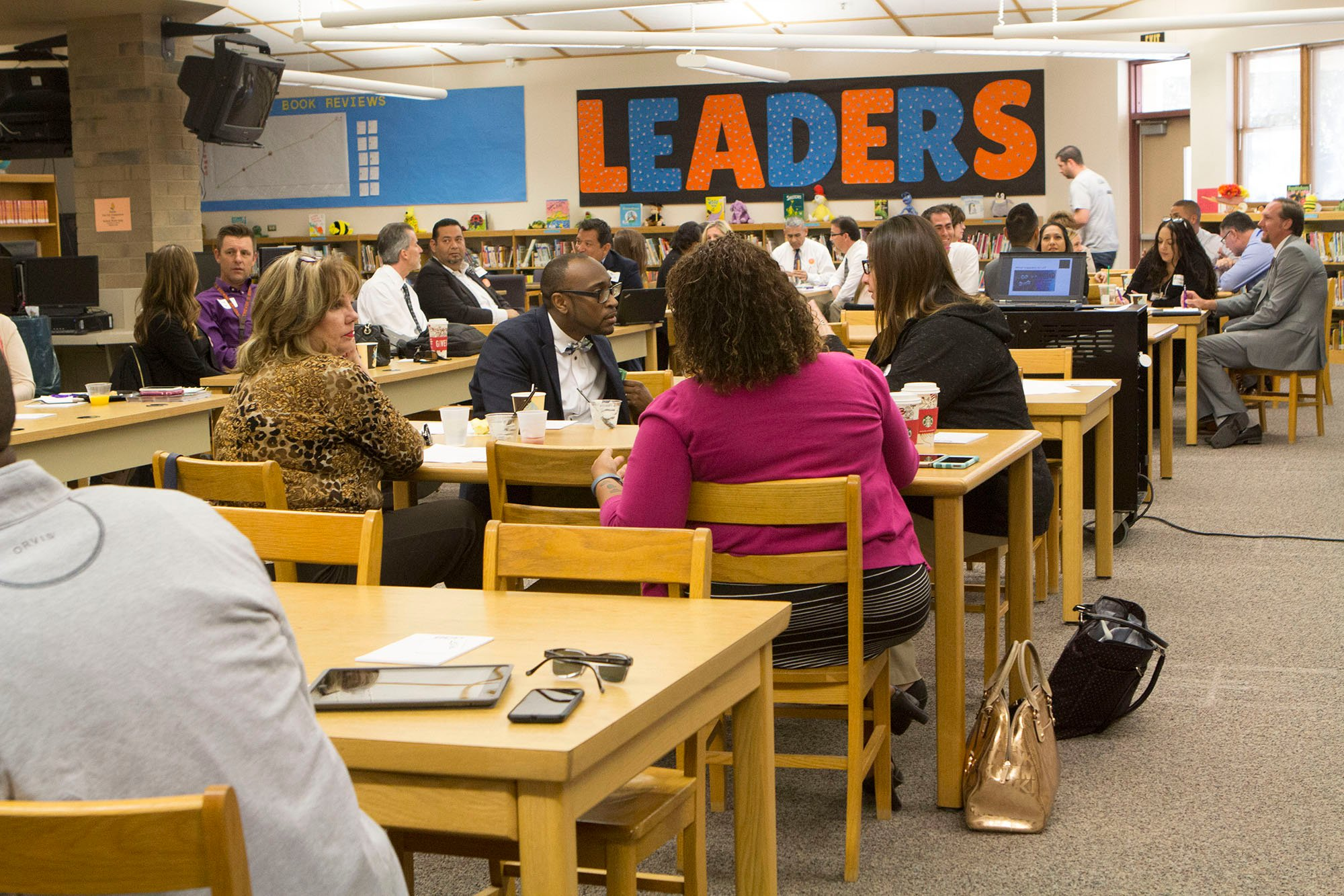 Several school administrators said sharing best practices and ideas helps them. (Photo by Paola Garcia/Cronkite News)