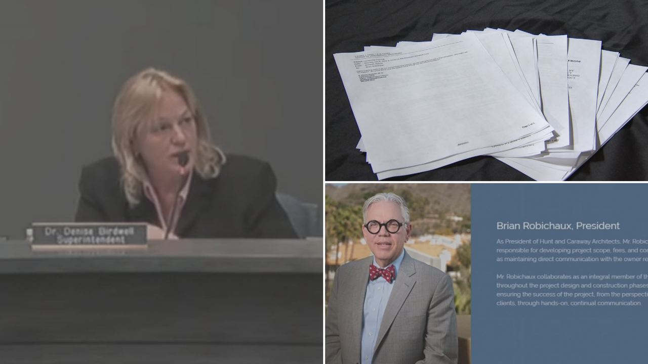New emails raise new questions about the relationship between Scottsdale Unified School District superintendent Denise Birdwell and the former president of Hunt & Caraway Associates, Brian Robichaux. (Source: 3TV/CBS 5)