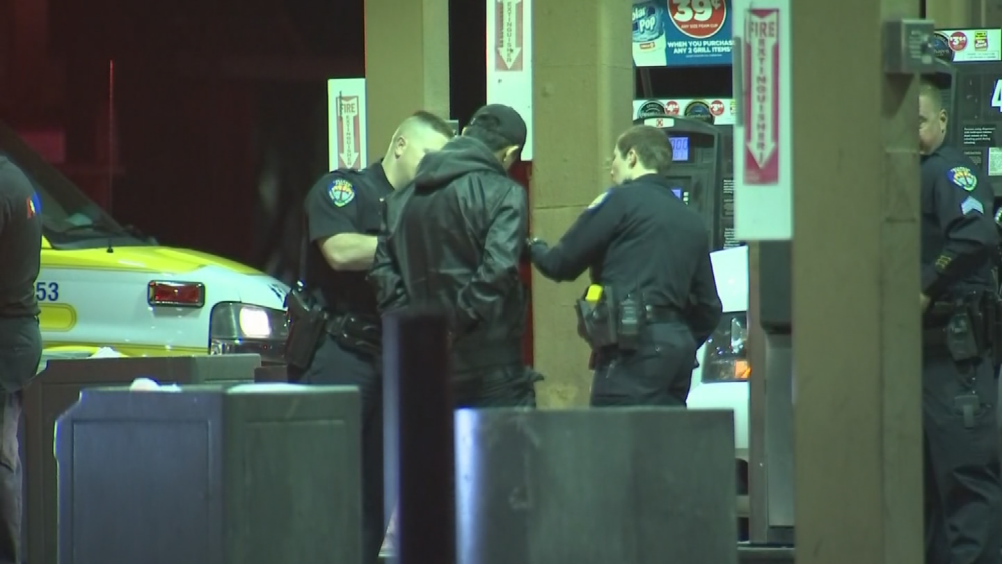 Officers had one male suspect in handcuffs but it is unclear if he was arrested. (Source: 3TV/CBS 5)