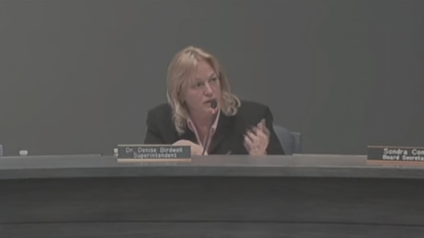 Scottsdale Unified superintendent Denise Birdwell said in a meeting on Tuesday that controversies surrounding district spending are fairy tales. (Source: 3TV/CBS 5)