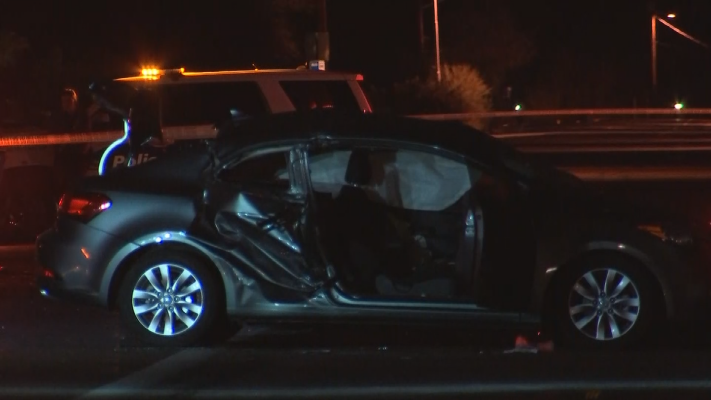 Two people inside the car were critically hurt. (Source: 3TV/CBS 5)
