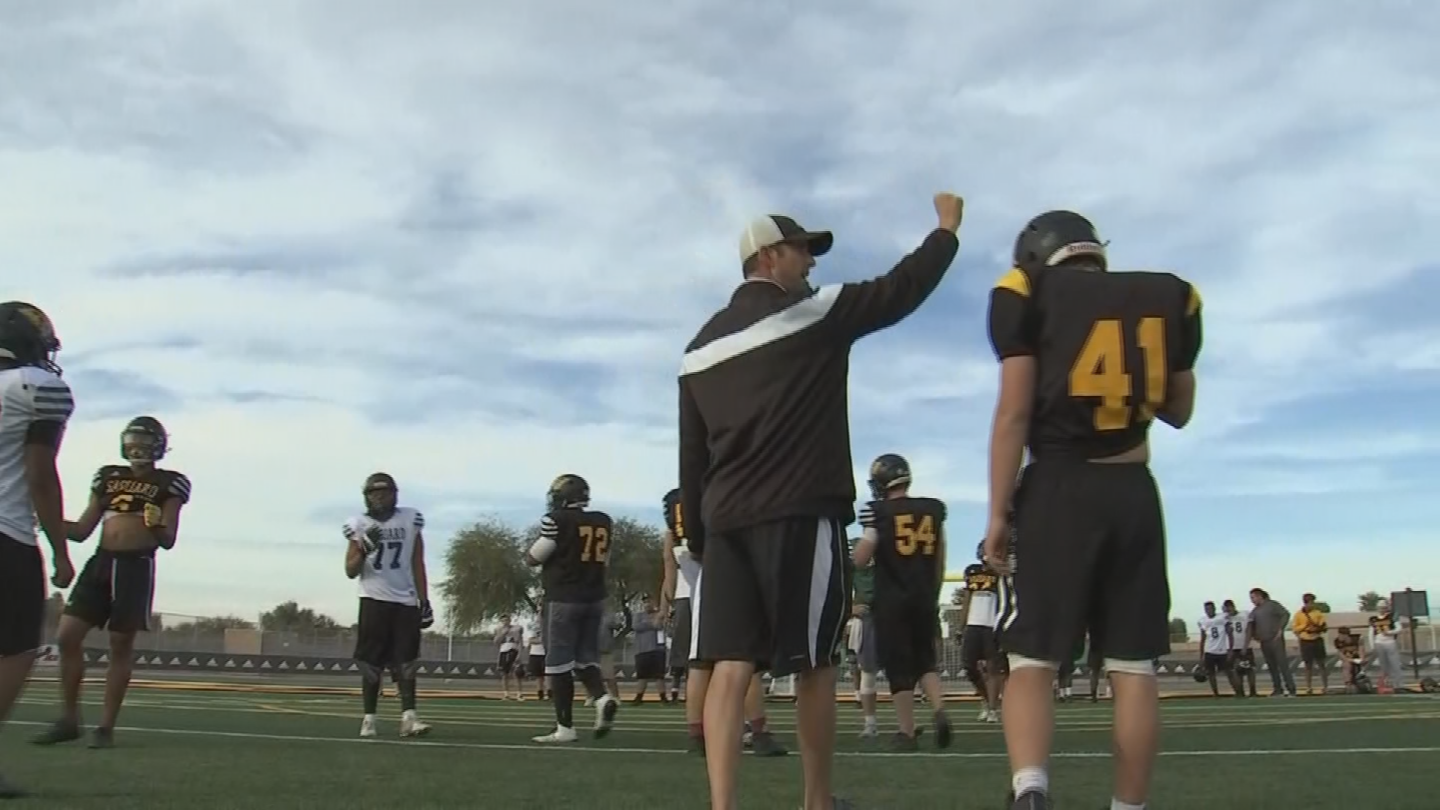 In six seasons at Saguaro High, Jason has posted a record of 73-9 with a state record five straight state titles. (Source: 3TV/CBS 5)