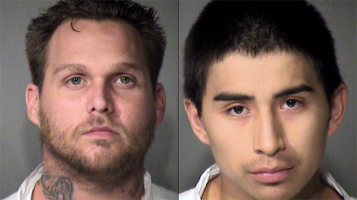 Two men are in custody and another suspect is wanted after an off-duty officer was assaultedearly Tuesday morning in Phoenix. (Source: Maricopa County Sheriff's Office)