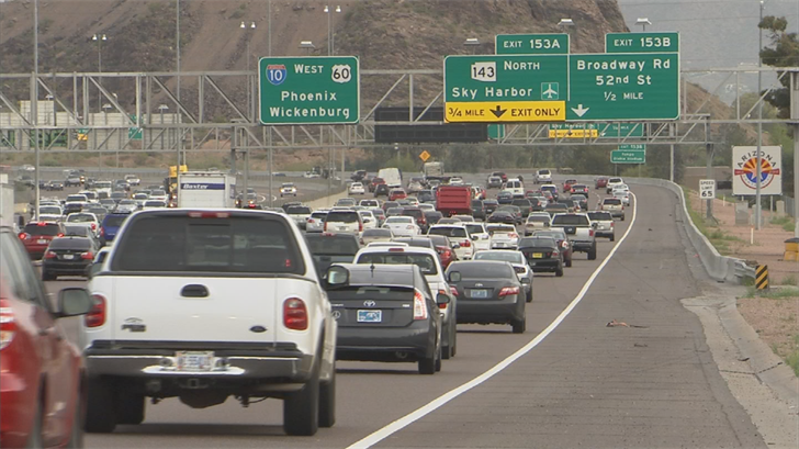 Drivers can expect heavy traffic in Glendale due to soccer match. (Source: 3TV/CBS 5)