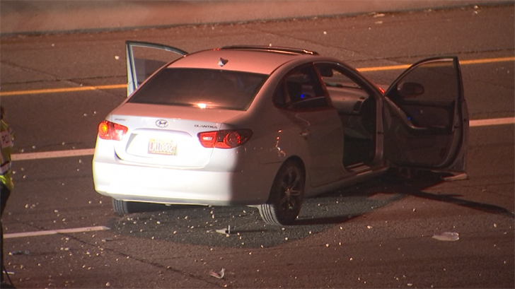 A two-vehicle crash briefly closed the eastbound lanes of U.S. 60 overnight in Mesa, according to the Arizona Department of Public Safety. (Source: 3TV/CBS 5)