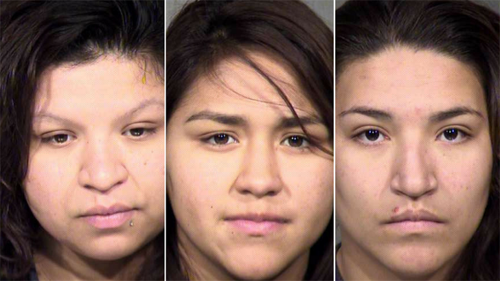 Liliana Vasquez, left, Desaree Coronado, middle, and Griselda Vasquez, right. (Source: Maricopa County Sheriff's Office)