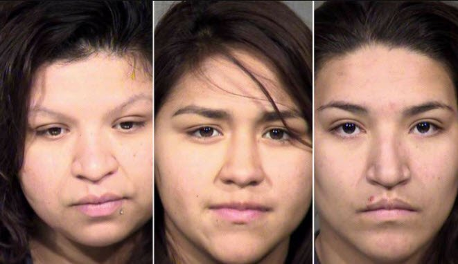 Liliana Vasquez, left, Desaree Coronado, middle, and Griselda Vasquez, right. (Source: Maricopa County Sheriff's Office)