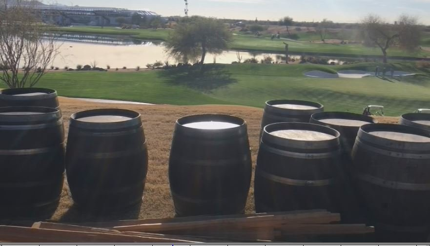 "The WM Phoenix Open has a new gathering spot for fans.   ""El Rancho"" on the 12th hole features a cantina and great views."