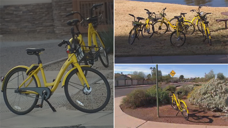 Some people in Scottsdale have complained that bike share bicycles are being left all over the city. (Source: 3TV/CBS 5)
