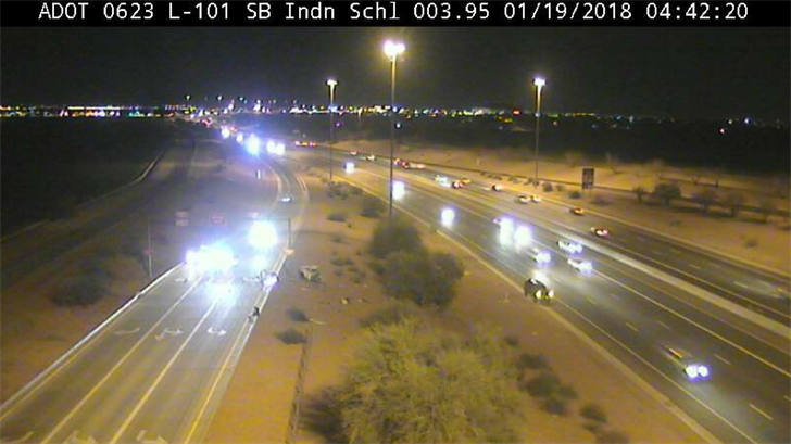 DPS said the single-vehicle collision occurred on the Indian School Road off-ramp on the southbound Loop 101. (Source: ADOT)