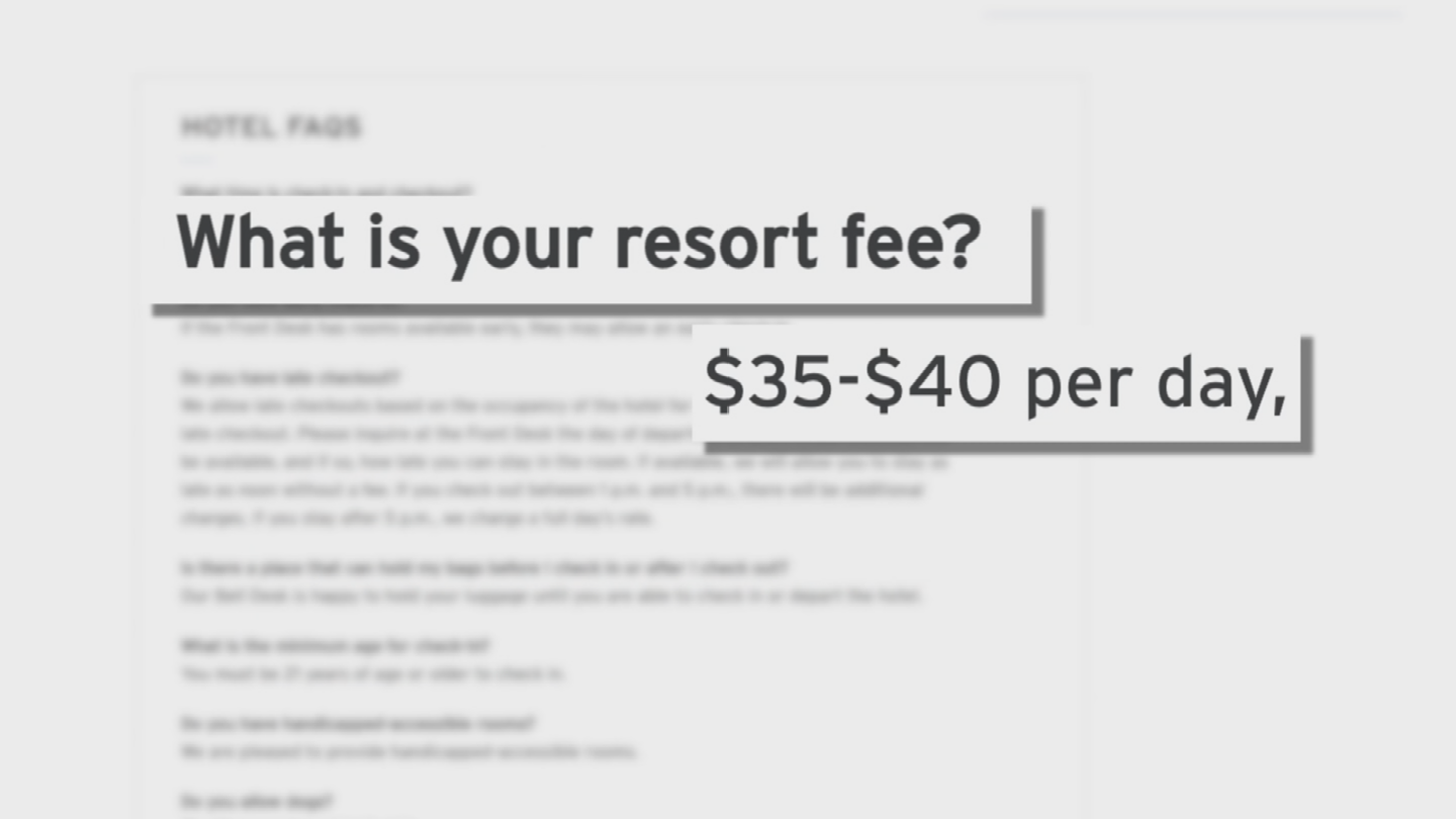If you're one of the millions of people who book hotels online, you may decide where to stay based on the lowest price. But buyer beware, that advertised price might not be all you're expected to pay. (Source: 3TV/CBS 5)