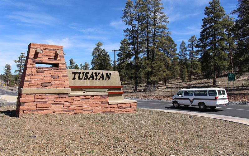 The town of Tusayan, which is at the entrance to Grand Canyon National Park, is just one area of the state whose livelihood depends on the park, and its 6 million annual visitors – a livelihood threatened by a shutdown. (Source: Sophia Kunthara/Cronkite)