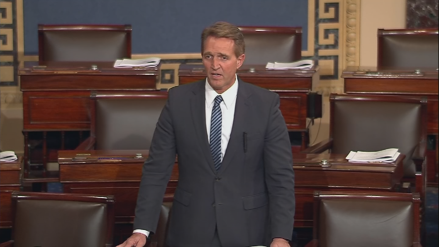 Sen. Jeff Flake said on Sunday he would vote for a CR after not voting for it last week. (Source: CNN)