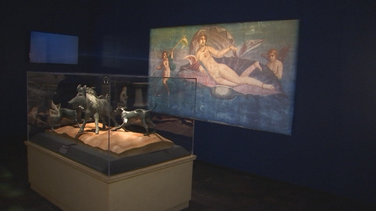 The exhibit illustrates the deadly eruption of Mount Vesuvius in 79 A.D. that ripped through Pompeii and destroyed everything in its path. (Source: 3TV/CBS 5)