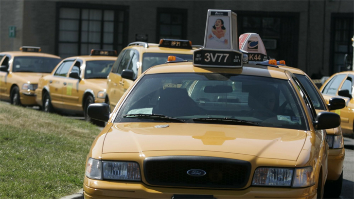 Taxis like these are helping people get to the hospital in non-emergency situations. (Source: AP)