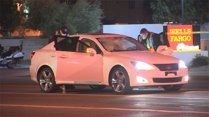 According to the Tempe Police Department, a man was struck by a car late Tuesday night in Tempe and is being treated at the hospital for life-threatening injuries. (Source: 3TV/CBS 5)