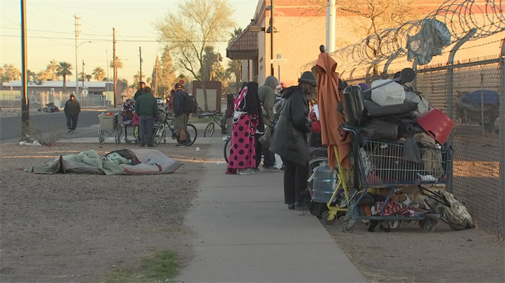 The police have a group of officers dedicated to patrolling this homeless camp area. (Source: 3TV/CBS 5)