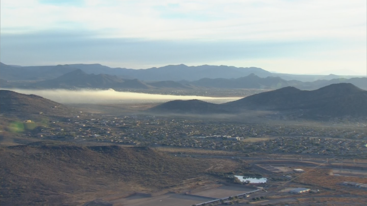 The plume of smoke from the fire was visible from miles away. (Source: 3TV/CBS 5)
