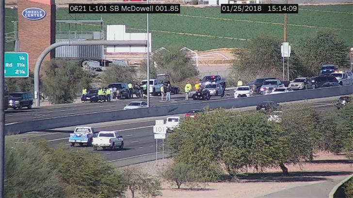 It happened on the southbound side of the Loop 101 Agua Fria near McDowell Road. (Source: ADOT)