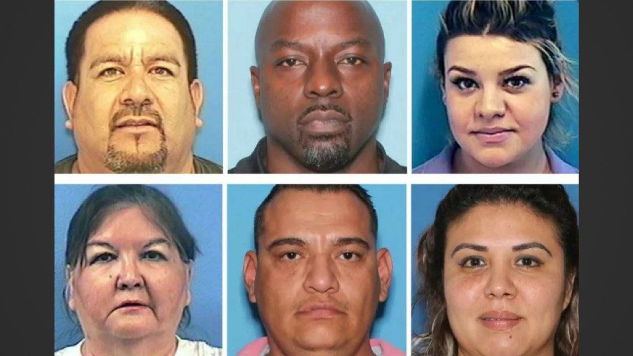 Top, l-r: Gabino Viramontes, Maurice Hawks, Ana Cabanillas. Bottom l-r: Maria Duron, Humberto Villanueva, Mayra Villanueva. (Source: Arizona Attorney General)