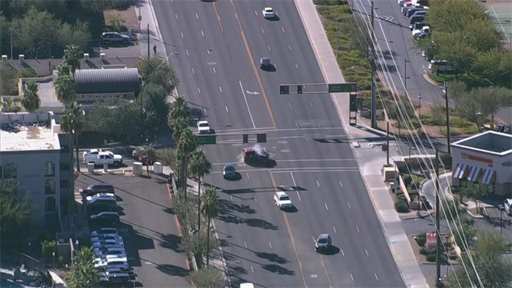 The chase ended with a violent crash in Tempe. (Source: 3TV/CBS 5)