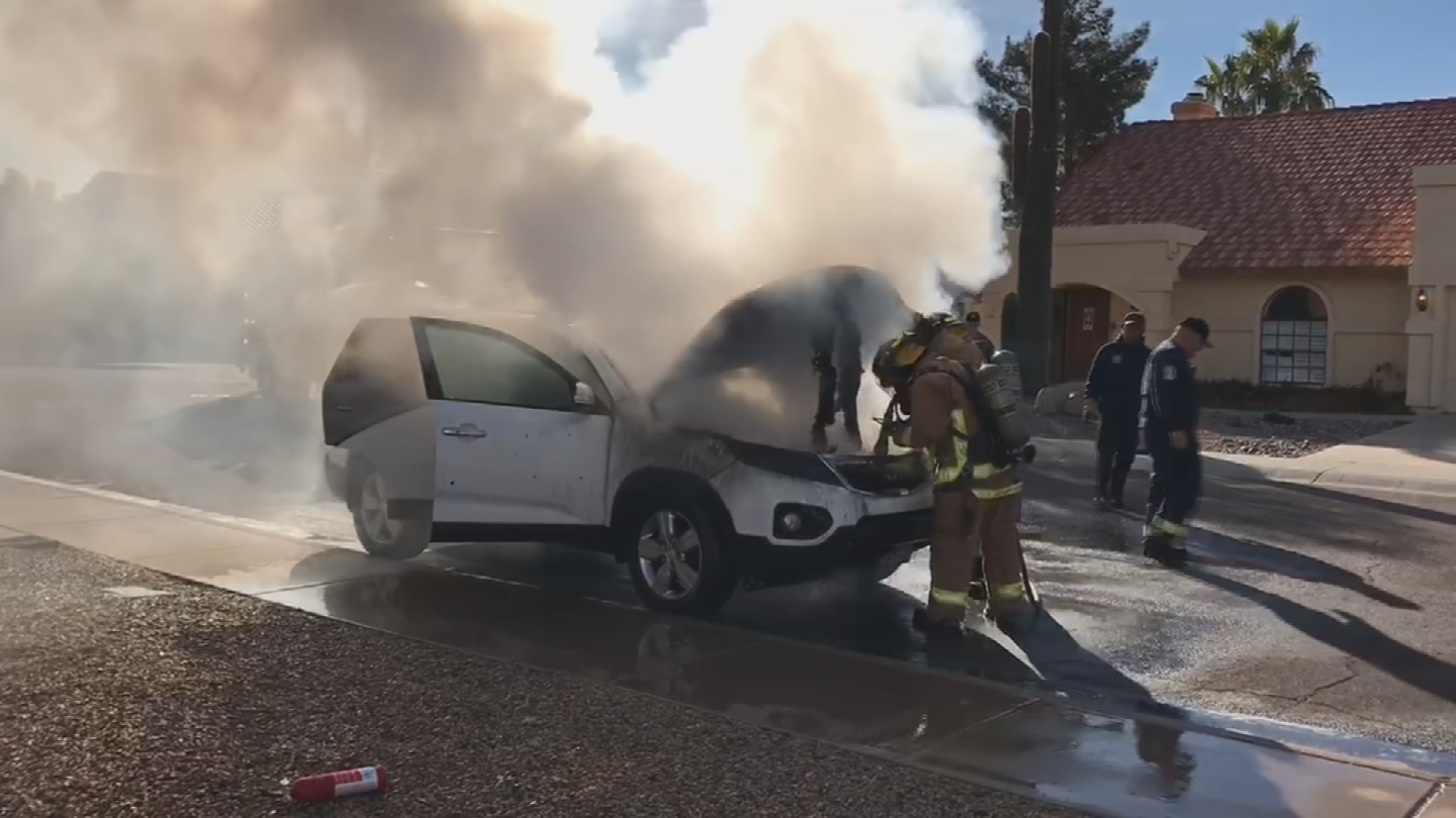 A Tempe family says their car unexpectedly caught fire and they want answers from the manufacturer. (Source: Cari McLean)