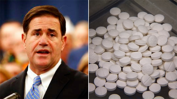 Ducey's proposal bars doctors from prescribing more than an initial five-day supply of pain medication, boosts pain clinic regulation and adds $10 million to help uninsured people get addiction treatment. (Source: AP Photo/Matt York/CNN)