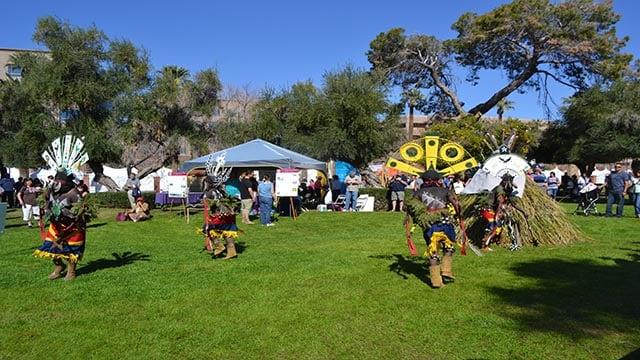 Traditional Gila River stick games. (Source: AAITA)