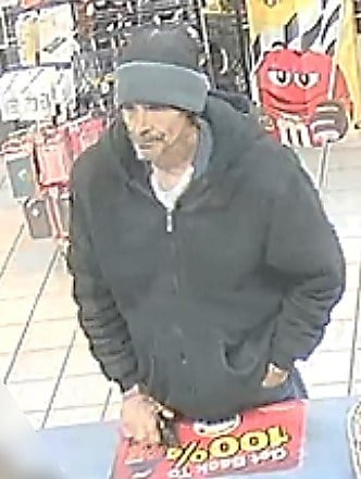 The clerk opened the cash register and the suspect grabbed the money and took off. (Source: Silent Witness)