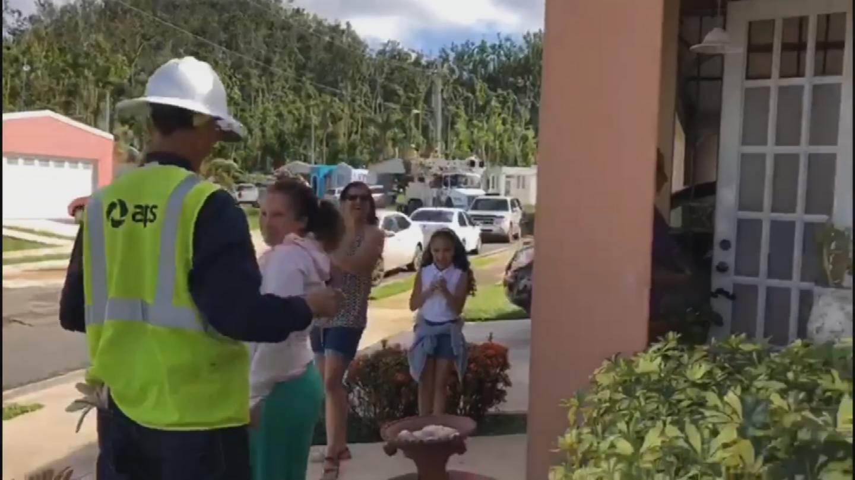 APS helped restore power to a neighborhood in Puerto Rico. (Source: APS)