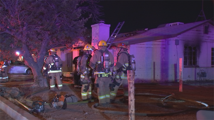 Approximately 20 firefighters put out a house fire late Sunday night. (Source: 3TV/CBS 5)