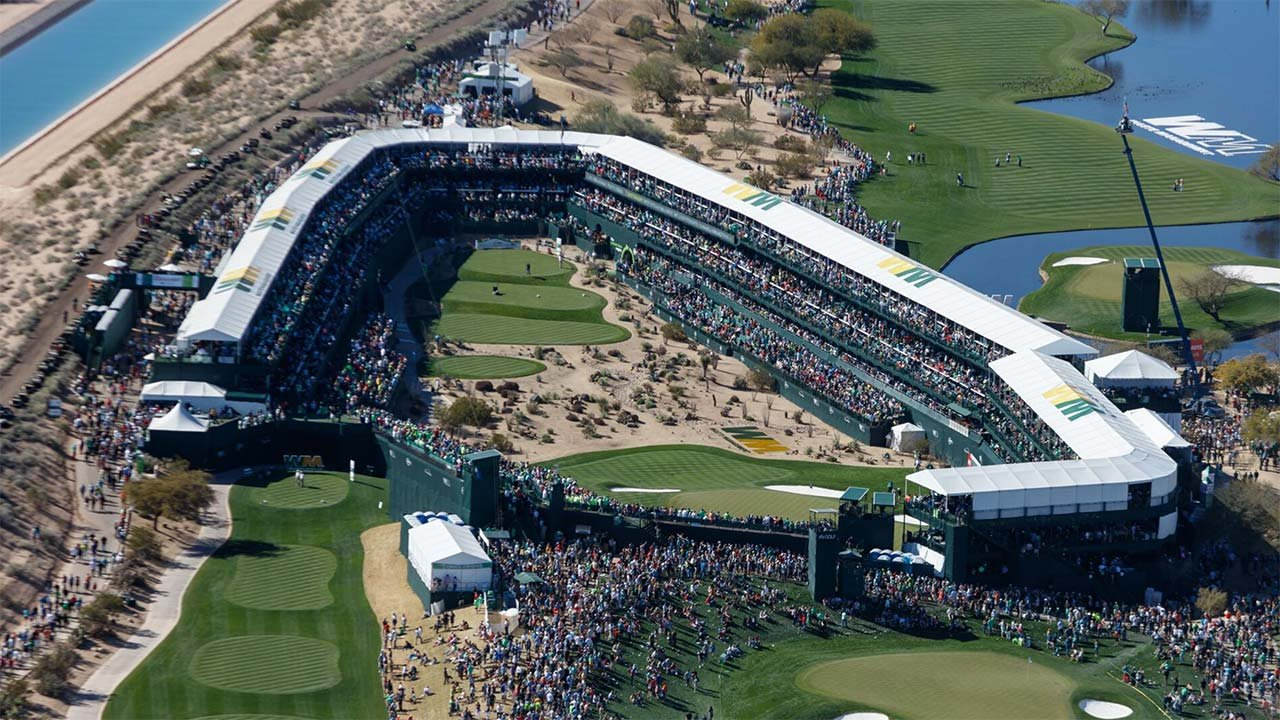 The 16th hole at the Waste Management Phoenix Open is reflective of how much the tournament has grown. (Source: Waste Management Phoenix Open)